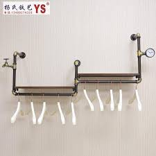 2018 retro iron pipe coat rack clothing store shelf hanging rod