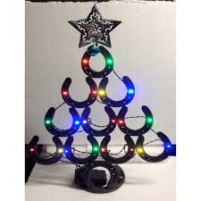 horseshoe ornaments christmas christmas best tree made out of horseshoes in with