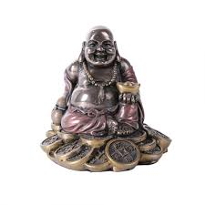 Home Decoration Statues Good Fortune Buddha Bronze Resin Statue Feng Shui Prosperity