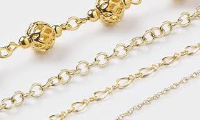 gold colored chain necklace images Jewelry chain fire mountain gems and beads jpg