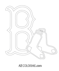 boston red sox coloring pages contegri com