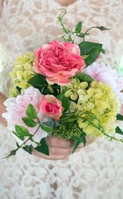 peony bouquet and peony bouquet pink 11in