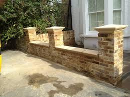 garden brick wall design ideas front garden brick wall designs home design