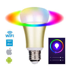 eosaga smart led bulb wifi a19 dimmable 5w e27 color changing