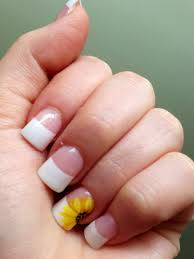 pedicure nails nail art design flower french nails