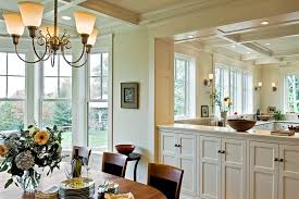 Coffered Ceiling Lighting by Studio Room Dividers Dining Room Victorian With Ceiling Lighting