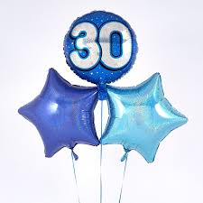 30th birthday balloon bouquets blue 30th birthday balloon bouquet inflated free delivery