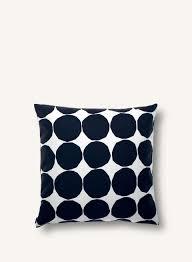 pienet kivet cushion cover 50x50 cm white black marimekko com