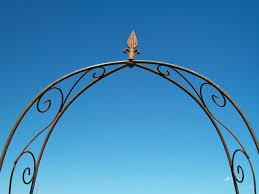 wrought iron narrow arch for sale garden trellis