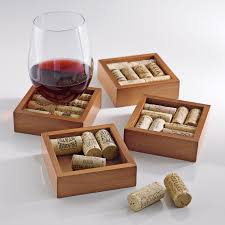Unique Coasters Wine Cork Coasters Kit Set Of 4 Wine Enthusiast