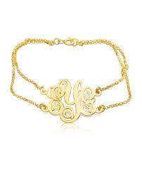 monogram bracelet gold monogram bracelet gold plated women bracelet the name necklace