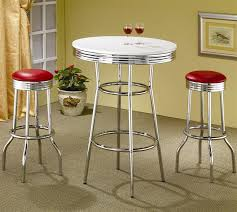 Retro Bar Table Soda In Retro Chrome 3 Counter Height Bar Table Set