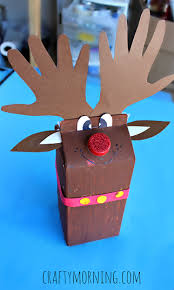 Kids Reindeer Crafts - milk carton reindeer christmas craft for kids crafty morning