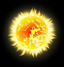 vector sun with rays in space stock vector illustration of