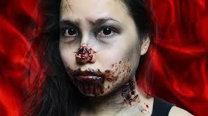 Decaying Zombie Bites Last Minute Halloween Makeup Youtube