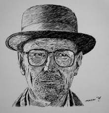 masseu learns to sketch breaking bad walter white sketch