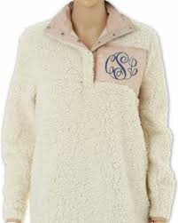 big deal on fast shipping monogram fleece sherpa sherpa sweatshirt