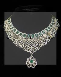 light diamond necklace images Diamond necklace light weight diamond set indian wedding jpg