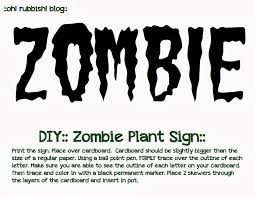 diy zombie plants zombie halloween decorating ideas