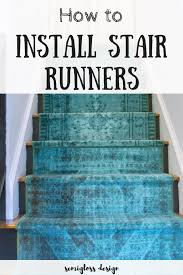 Diy Runner Rug How To Install Stair Runners In Just A Few Hours Semigloss Design