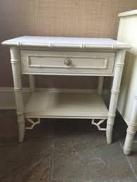 sale thomasville faux bamboo nightstands end tables pair
