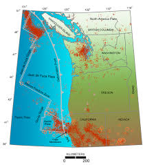 Seismic Risk Map Of The United States by Living With Earthquakes In The Pacific Northwest