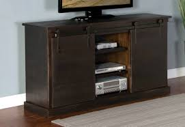 Tv Console Tv Console With Barn Door In Charred Oak American Home Furniture