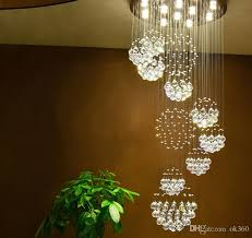 Entryway Chandelier Lighting Modern Pendant Lamp Chandeliers Crystal Staircase Light Large