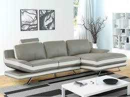 canapé d angle en cuir gris canapé d angle en cuir gris ivoire ou noir gris latika