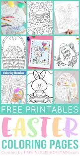 easter coloring pages numbers free easter coloring pages happiness is homemade