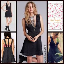 58 off free people dresses u0026 skirts free people black plunging