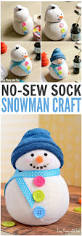 diy no sew sock snowman craft for kids and grownups 11 kid