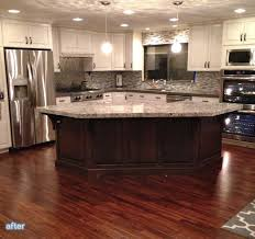 Kitchen Island Makeover Ideas Best 25 Curved Kitchen Island Ideas On Pinterest Area For