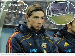 Fernando Torres Meme - torres it might work big goal post funny pictures