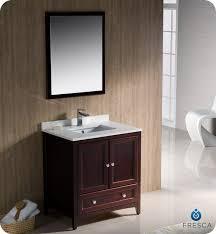 Fresca Bathroom Vanity by Fresca Fvn2030mh Oxford 30 Inch Mahogany Traditional Bathroom