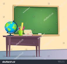Teacher Desk Organization by Classroom Green Chalkboard Teachers Desk Vector Stock Vector
