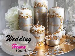 bougie hennã mariage new henna design candles bougies personnalisées