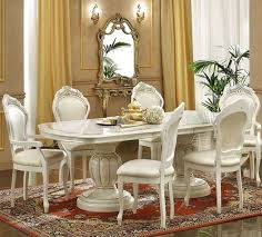 italian dining room sets ivory italian classic dining set
