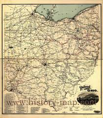 Ohio Canal Map by Ohio Maps