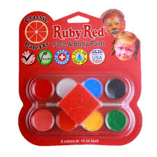 red classic face paint palette