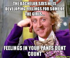The Bachelor Meme - the bachelor says he is developing feelings for some of the girls