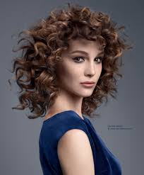 medium length hairstyles for permed hair spiral curlers for long hair classic cute spiral curls hairstyle