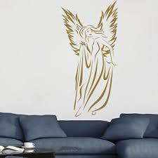 Angel Home Decor Floating Angel Female Outline Angels And Wings Wall Sticker Home