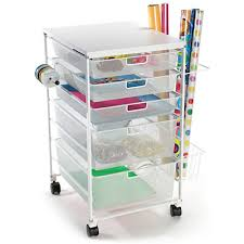 gift wrapping cart white elfa mesh gift wrap cart container store gift wrap