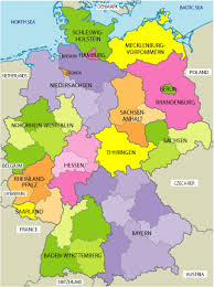 map of regions of germany map germany regions major tourist attractions maps