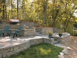 Retaining Wall Patio Anchor Highland Stone Wall Block Stone Retaining Wall Ideas