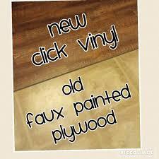 installing a click lock vinyl floor