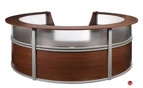 Circular Office Desk The Office Leader Omf 55316 5 Unit Marque Circular Reception