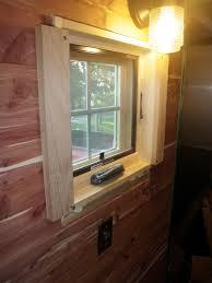 Bathroom Window Trim Installing 1x3 Cedar Trim On Bathroom Window Built By Friends