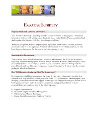Summary In A Resume Example Resume Examples Executive Summary